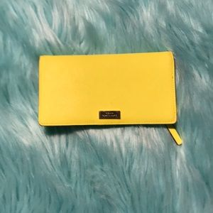 Kate Spade ♠️ highlighter yellow wallet
